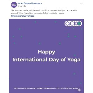 Yoga Day Post Acko General Insurance