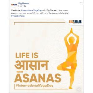Yoga Day Post Big Bazar 2