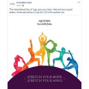 Yoga Day Post Incredible India