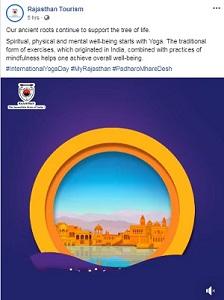 Rajasthan tourism - yoga day post 1