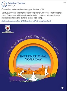 Rajasthan tourism - yoga day post 2