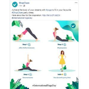 Yoga Day Post ShopClues