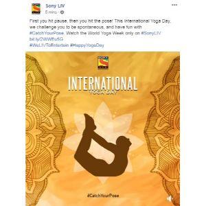 Sony Liv - Yoga Day Post-1