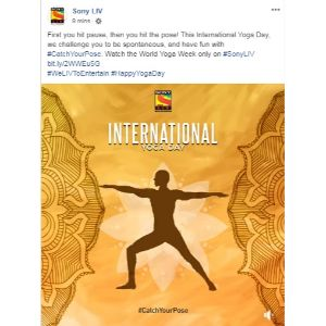 Sony Liv - Yoga Day Post-4