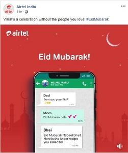 eid mubarak by airtel india