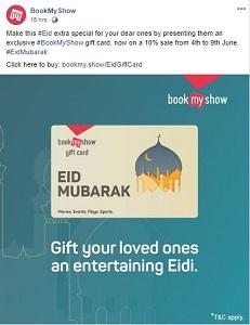 eid mubarak by bookmyshow
