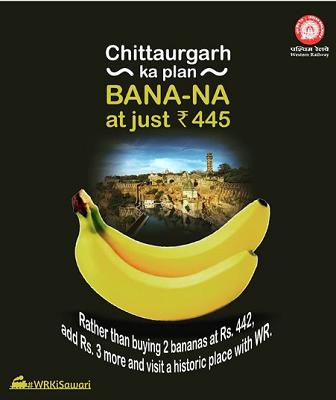 Western Railway Banana Post - Digimanic