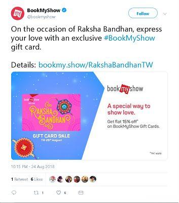 Bookmyshow Raksha Bandhan Post