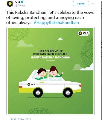 Ola Raksha Bandhan Post - Digimanic